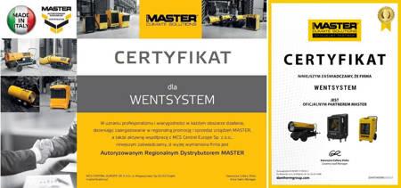Części eksploatacyjne do nagrzewnic Master B 35 CED i B 35 CEL - kod 4519.012