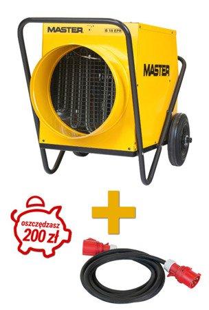 Nagrzewnica elektryczna Master B 18 EPR + PRZEWÓD 10m
