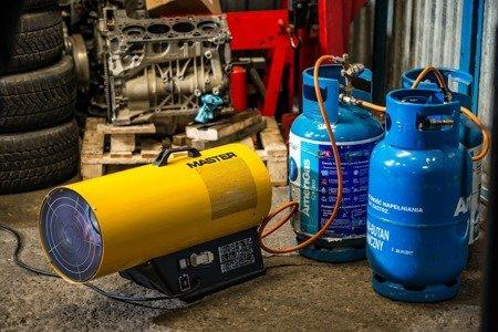 Nagrzewnica gazowa Master BLP 73M + zestaw do sprzęgania butli