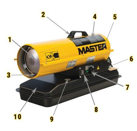 Nagrzewnica olejowa Master B 35 CEL