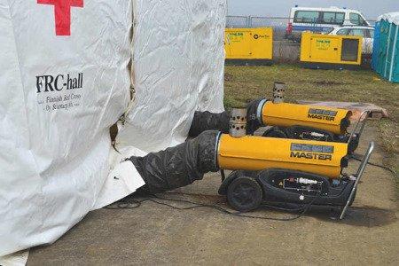 Nagrzewnica olejowa Master BV 170 E + przewody giętkie nylonowe 7,6 m + torba + zestaw podłączeniowy